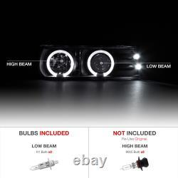00-06 TAHOE SUBURBAN New Twin Halo Angel Eye Projector Smoke LED Headlight Lamps