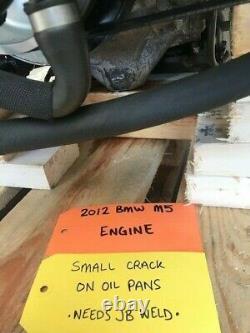 12-16 Bmw M5 M6 F10 F12 F13 S63 4.4 Twin Turbo Engine Motor Complete! 44k
