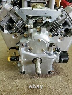 19HP Briggs & Stratton Twin 406777-0136 Vertical Shaft Engine 1 X 3-5/32 FP DC