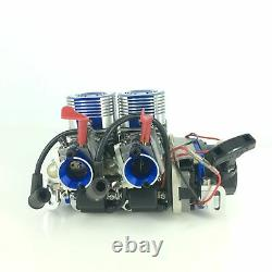 52CC Inline Twin Left Side Exhaust Marine Engine For RC Boat QJ RCMK