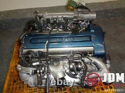 98-04 Toyota Aristo Twin Turbo Engine Loom & Ecu Jdm 2jz-gte