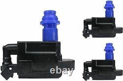 DENSO Platinum TT Spark Plug & Premium Engine Ignition Coil Wire For Lexus GS300