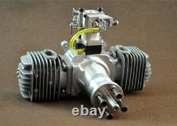DLA64CC Gasoline Engine Twin Cylinder with Muffler Ignition Spark plug for RC