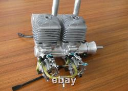 DLA64i2 64cc CNC Twin in line Gas Engine For RC Airplane WithElectronic Igniton