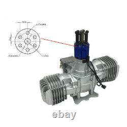 DLE130 Gasoline Engine Twin Cylinde With Ignition Exhaust Pipe For RC Aircraft