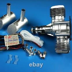 DLE40CC Twin Gasoline Engine WithElectronic Igniton &Muffler For RC Airplane