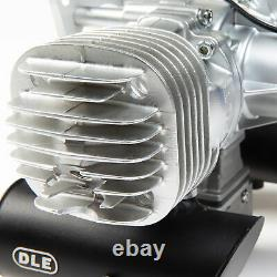 DLE Engines DLE-130cc Twin Gas Engine with Electric Ignition and Mufflers