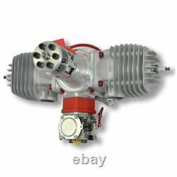 Desert Aircraft DA120 Twin Gas Engine with Ignition, Muffler Set, & Engine Mount