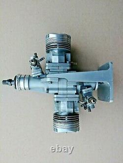 Fox Twin 1.20 Opposed Boxer R/C Radio Control Model Airplane Glow Gas Engine