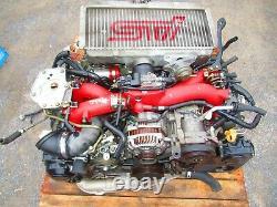 JDM 06-07 Subaru WRX STI EJ207 V9 Engine Twin Scroll VF37 Turbo V-9 Motor EJ20