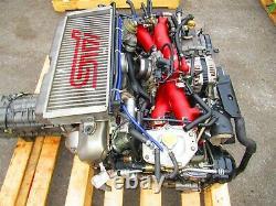 JDM 06-07 Subaru WRX STI EJ207 V9 Engine Twin Scroll VF37 Turbo V-9 Motor Only