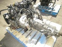 JDM Subaru Legacy EJ208 Twin Turbo Engine BH EJ20R EJ206 2.0L Transmission MT