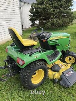 John Deere X585 4X4 Lawn Mower Tractor 62 Deck Kawasaki 25HP Twin Engine