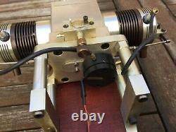 Model flat twin rare single valve four stroke petrol engine