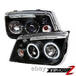 New Twin CCFL Angel Eye Halo Projector Pair Headlight 1999-2005 Volkswagen Jetta