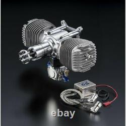 O. S Speed GT120T 120cc 2-stroke Boxer Twin Gasoline Airplane Engine