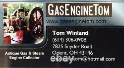 RARE Cast Iron Twin Cylinder MAYTAG Gasoline Fuel Tank Hit Miss Gas Engine