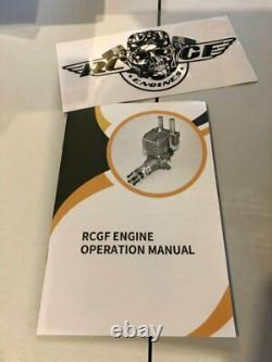 RCGF 30CC TWIN Cylinder Gas Engine (New version with 1/4 32 angled spark plugs)