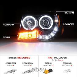 Twin CCFL Angel Eye Halo Projector Pair Headlight For 2005-2011 Toyota Tacoma