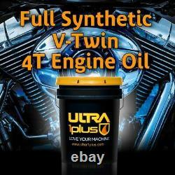 Ultra1Plus 20W-50 Full Synthetic Motorcycle Engine Oil V-Twin 4T API SJ JASO MA2