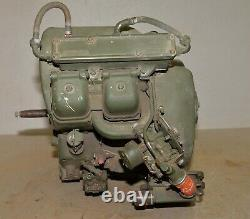 Vintage Colt Industries twin 2 cylinder military gas engine 16 cu in collectible