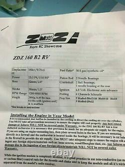 ZDZ 160 Twin Engine, Falcon Ignition, Headers, Cans, NEW IN BOX NEVER STARTED